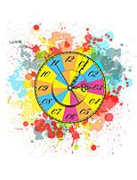 Modern 3D Effect Colorful Wheel Wall Clock 15.75*15.98 inch / 40*40.6cm