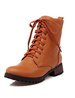 Women's Shoes Chunky Heel Combat Boots/Round Toe Boots Dress/Casual Black/Yellow/Gray