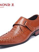 Men's Shoes Office & Career/Casual/Party & Evening Leather Oxfords Black/Brown