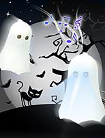 Mini Boo Ghost Toy Keychain LED Flashlight with Sound (Random Color)