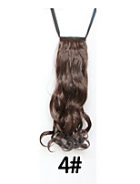 4 # Long Wavy Hair High-temperature Wire Wig Ponytail