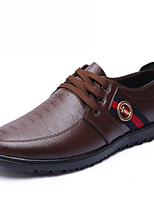Men's Shoes Outdoor/Office & Career Leather Oxfords Black/Blue/Brown