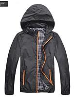 JESUNLOM®Man's Jacket Fashon Long Sleeve Thin Style Hooded Coat Korean Style Casual Stand Collar Jacket