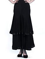Jupes ( Noire/Violet/Imprimé léopard , Chiffon Satin/Chinlon , Danse moderne/Spectacle/Salle de bal/Danse de Salon )Danse