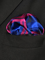 Men's Casual Checked Navy Blue  Pocket Square