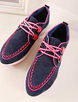 Zapatos de mujer Cuero Tacón Cuña Cuñas/Puntiagudos Sneakers a la Moda Casual Azul/Rojo