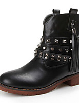 Women's Shoes  Chunky Heel Combat Boots/Round Toe Boots Casual Black/Brown