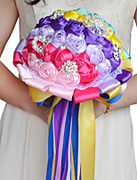 Colorful Wedding Bouquet Bride Holding Flowers