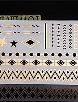 4PCS Tatoo Flash Tattoo Gold Tattoo Metallic Tattoo Taty Tatouage Temporary Tattoo sticker Metal Tatoos Fake Tatto
