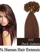 4 set remy 16inch dei capelli di punta del chiodo 0.4g / s estensioni dei capelli umani 17 colori per le donne di bellezza