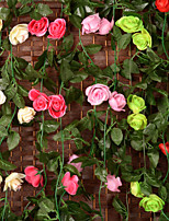 Set of 2 Artificial Flowers Simulation Rose Vine Home / Wedding Decor (240cm)