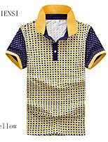2015 summer new men's T-shirt Lapel Mens Size Stripe Polo Shirt Men's short sleeve T-shirt male tide