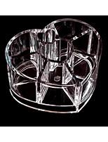 acrilico trasparente cosmetici scatole a forma di cuore