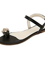 Women's Shoes Flat Heel Toe Ring/Open Toe Sandals Casual Black/White