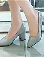Women's Shoes  Chunky Heel Pointed Toe Pumps/Heels Dress Black/Blue/Pink/White/Gray/Beige