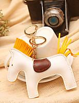 Handmade Cute Colorful Leather Key Chain Pony Accessories Car Pendan Handbag(Random Color)