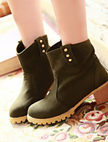 Women's Shoes Chunky Heel Fashion Boots/Round Toe Boots Office & Career/Dress/Casual Black/Yellow/Beige