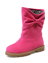 Women's Shoes Fleece Platform Fashion Boots/Round Toe Boots Dress Black/Brown/Green/Pink/Beige