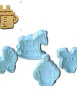 4pcs torta ricordi d'infanzia modello e biscotto muffa della taglierina con tuffatore