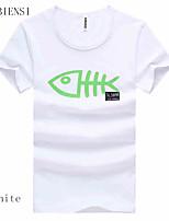 2015 summer new men's casual T-shirt Mens Short Sleeved T-shirt printing cartoon T-shirt