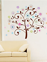 Wall Stickers Wall Decals Style Cartoon Color Tree PVC Wall Stickers