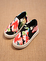 Girls' Shoes Casual Comfort Fabric Fashion Sneakers Black/White