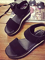 Women's Shoes Flat Heel Creepers Sandals Casual Black
