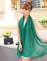 Women Cute Candy Color Chiffon Scarf