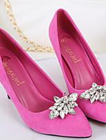 Women's Shoes Velvet Stiletto Heel Heels Pumps/Heels Party & Evening/Dress/Casual Black/Green/Pink/Red
