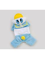 Pet Clothes Cute Donald Duck Blue Polar Fleece Pants & Hoodies For Dogs