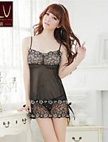 SKLV Women's Lace/Organza Robes/Ultra Sexy/Suits Cut Out Nightwear/Lingerie