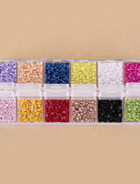 12 Colors Nail Art Pearl Rhinestone Nail Art Beads French Nail Tips Decorations Glitter Nail Decorations