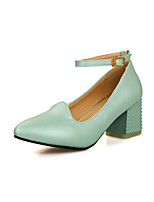 Women's Shoes Stiletto Heel Heels/Pointed Toe Pumps/Heels Office & Career/Dress Green/Pink/Beige