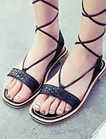 Women's Shoes Flat Heel Open Toe Sandals Casual Black