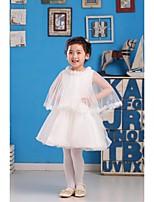 Tanssiaisasu Satiini/Tylli Flower Girl Dress - Hihaton - Polvipituinen