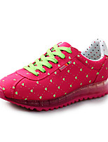 Chaussures Femme Faux Daim Talon Plat Confort/Bout Arrondi Baskets à la Mode Extérieure/Décontracté Bleu/Vert/Rouge/Marine