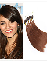 Straight Micro Ring Hair/Loop Hair Extension Virgin  Keratin Fusion Capsule Hair  1G/S 100G/PC 1PC/Lot In Stock