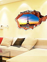 3D Wall Stickers Wall Decals Style Eiffel Tower PVC Wall Stickers