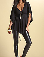 Women's Sexy/Casual Micro Elastic ¾ Sleeve Regular Blouse (Polyester)