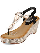 Women's Shoes  Wedge Heel Wedges/Round Toe Sandals Casual Black/Brown