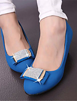 Women's Shoes Chunky Heel Round Toe Pumps/Heels Dress Black/Blue/Red