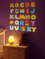 Wall Stickers Wall Decals, Cartoon English Letters PVC Wall Sticker
