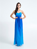 Floor-length Chiffon Bridesmaid Dress - Royal Blue Sheath/Column Sweetheart