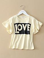 Girl's Cotton Shirt , Summer Short Sleeve