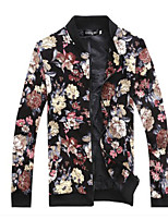 Men's Casual Floral Long Sleeve Regular Jacket