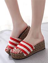 Women's Shoes Wedge Heel Open Toe Sandals Dress Black/Red