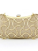 Handbag Satin/Metal Evening Handbags/Clutches With Crystal/ Rhinestone/Metal