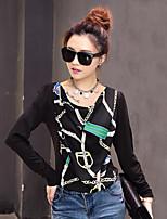 Women's Casual/Work Stretchy Long Sleeve Regular Shirt (Chiffon/Spandex/Elastic)