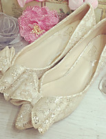 Women's Shoes Fabric Kitten Heel Pointed Toe Pumps/Heels Casual Pink/Beige