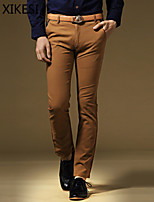 Men's Casual/Work Pure Chinos Pants (Cotton) XKS7C01